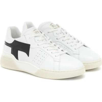 トッズ Tod's レディース スニーカー シューズ・靴 Leather Sneakers Bianco/Nero