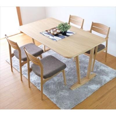 ダイニング5点セット(テーブル×1、アームレスチェア×4)サワー テーブル 幅150cm ナチュラル SOUR ISSEIKI 一生紀 5028696 オーク材 木製 チェ