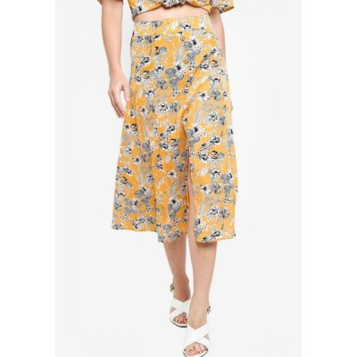ザローラ ZALORA レディース ひざ丈スカート スカート Co-Ord Button Down Midi Skirt Yellow/Multi