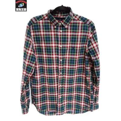 RALPH LAUREN チェックシャツ/XL/GRN/RED