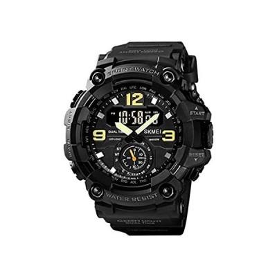 【新品】KXAITO メンズ 腕時計 スポーツ アウトドア 防水 ミリタリーウォッチ 日付 多機能 タクティカル LED アラーム ストップウォッチ L 37