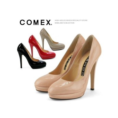 COMEX 13cmヒール エナメル ピンヒール パンプス 7193e
