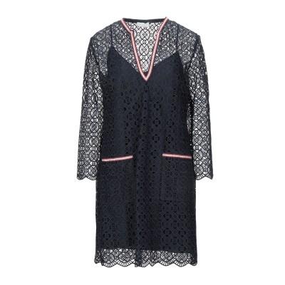 SANDRO ミニワンピース&ドレス ダークブルー 36 ポリエステル 100% ミニワンピース&ドレス