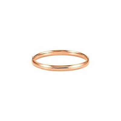 [新品]Jewels By Lux 14K ローズゴールド 6.5mm ヒンジバングルブレスレット