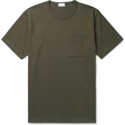 ハンドバーク HANDVAERK メンズ Tシャツ トップス T-Shirt Military green