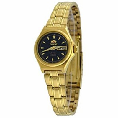 Orient FNQ1S002B Women's Gold Tone Stainless Steel 3 Star Black Dial Automatic Watch