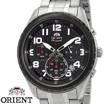 ORIENT オリエント FKV01001B0 クロノグラフ メンズ 腕時計 ブラック