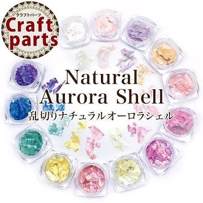 乱切りナチュラルオーロラシェル(ケース入り) レジン ネイル パーツ アクセサリー 貝殻 シェルフレーク 薄片