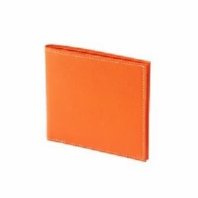 FRUH(フリュー) 日本製 国産 極薄 2つ折り スマートウォレット GL012L-OR オレンジ  送料無料