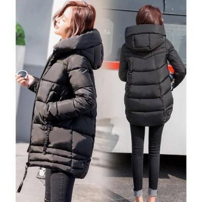 中綿ジャケット レディース ロング コート ダウンコート アウター フード付き ボリューム 冬 ゆったり 防寒服