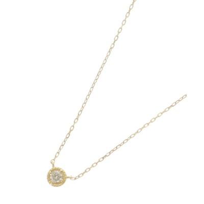 COCOSHNIK(ココシュニック) K18ダイヤモンド フチミル ネックレス(小)