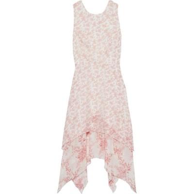 ミカエル アガール MIKAEL AGHAL レディース ワンピース ワンピース・ドレス asymmetric floral-print chiffon dress Red
