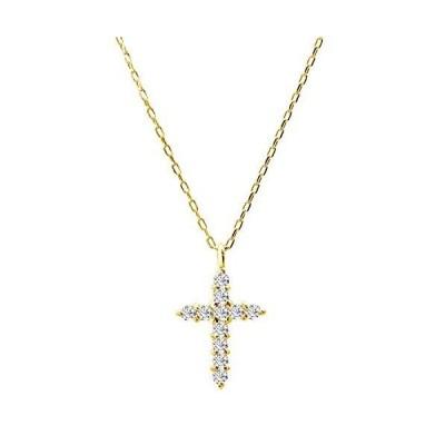 [ララクリスティー]LARA Christie ネックレス ダイヤモンド スター クロス 0.1ct イエローゴールド K18YG PLATINUM プラチ