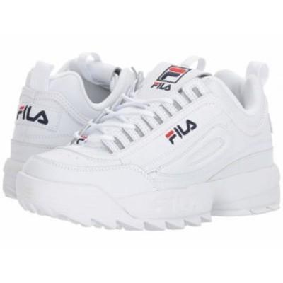Fila フィラ レディース 女性用 シューズ 靴 スニーカー 運動靴 Disruptor II Premium White/Filacnavy/Fila Red【送料無料】