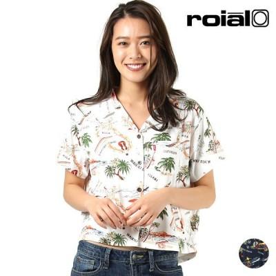 roial ロイアル × IOLANI イオラニ R001GCO01 レディース 半袖 シャツ UVカット ショート丈 HH1 D1