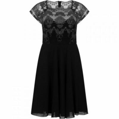 チチ Chi Chi レディース パーティードレス ワンピース・ドレス Cap Sleeve Baroque Style Tea Dress Black