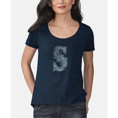 アリッサミラノ Tシャツ トップス レディース Women's Seattle Mariners Big Hitter T-Shirt Navy
