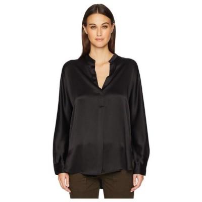 レディース 衣類 トップス Vince Women's Band Collar Blouse Black X-Small ブラウス&シャツ