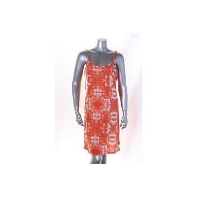 インク ドレス ワンピース フォーマル INC オレンジ マルチ Spaghetti ストラップ Geometric ティアード ドレス S MSPR 99 LAFO