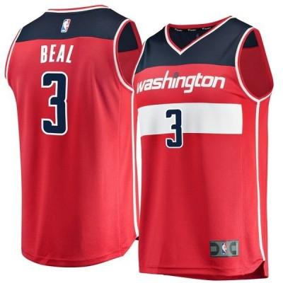 ファナティクス ブランデッド メンズ Tシャツ トップス Bradley Beal Washington Wizards Fanatics Branded Fast Break Replica Jersey Red