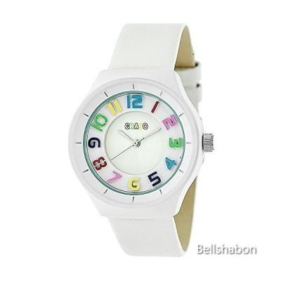 Crayo Atomic White Leather Strap Watch 並行輸入品