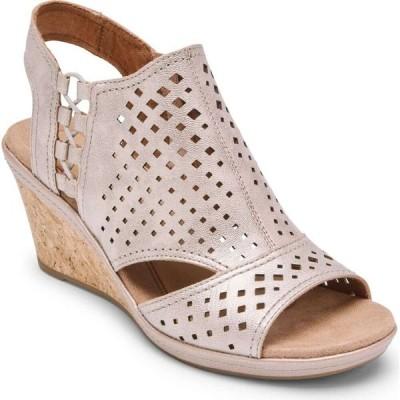ロックポート ROCKPORT COBB HILL レディース サンダル・ミュール ウェッジソール シューズ・靴 Rockport Cob Hill Janna Wedge Sandal Metallic Leather