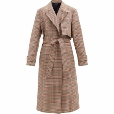 ジョゼフ Joseph レディース コート アウター Chasa belted checked wool-blend coat Brown