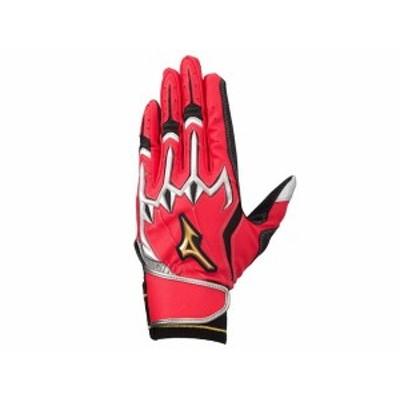 ミズノ:ミズノプロ シリコンパワーアークLIバッティング手袋(両手用)【MIZUNO 野球 バッティング手袋】 【191013】
