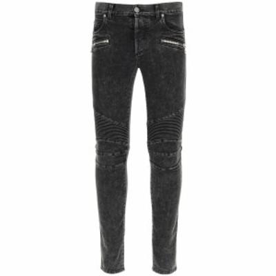 BALMAIN/バルマン Black Balmain slim biker jeans メンズ 春夏2021 VH1MG005107D ik