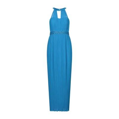 SOLOGIOIE ロングワンピース&ドレス アジュールブルー 46 ポリエステル 100% ロングワンピース&ドレス