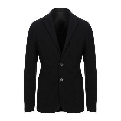 GAZZARRINI テーラードジャケット ブラック 46 コットン 59% / ナイロン 34% / ポリウレタン 7% テーラードジャケット