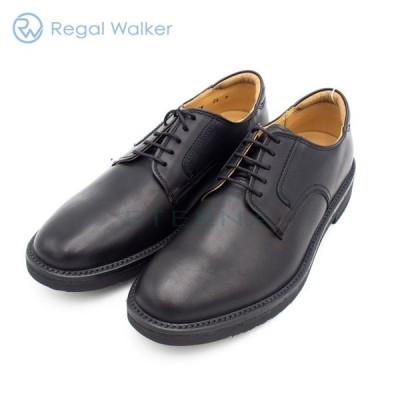 REGAL Walker リーガル ウォーカー メンズシューズ プレーントゥ シンプル レザー 軽量 痛くない 幅広 3Eブラック 黒 101W
