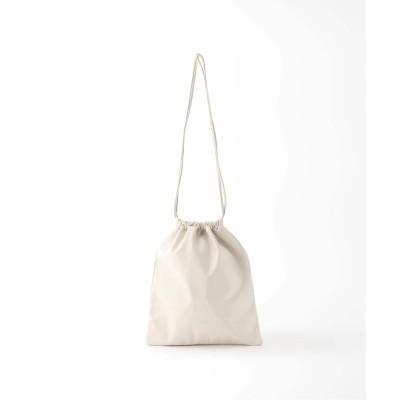 レディース イエナ 【MODERN WEAVING/モダン ウィーヴィング】SLIM LAMB 巾着バッグ ナチュラル フリー