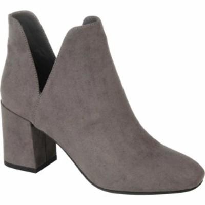 ジュルネ コレクション Journee Collection レディース ブーツ ショートブーツ シューズ・靴 Gwenn Heeled Ankle Bootie Grey Faux Suede