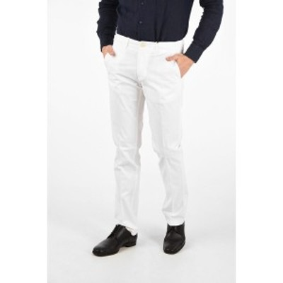 CORNELIANI/コルネリアーニ White メンズ ID Cotton Stretch Chino Pants dk