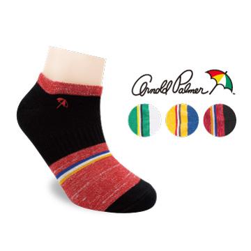 Arnold Palmer撞色混紗船型短襪