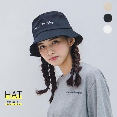 送料無料 韓国 バケットハット ロゴ文字 可愛い帽子 キャップ メンズ レディース サファリハット