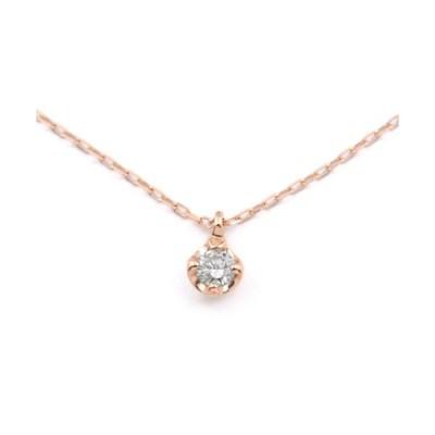ネックレス 【BLOOM/ブルーム】K10 ピンクゴールド ダイヤモンド(0.05ct) ネックレス