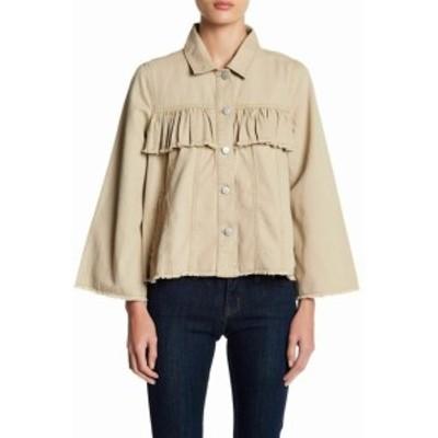 ファッション 衣類 Abound NEW Beige Womens Size XXS Button-Down Bell-Sleeve Jacket