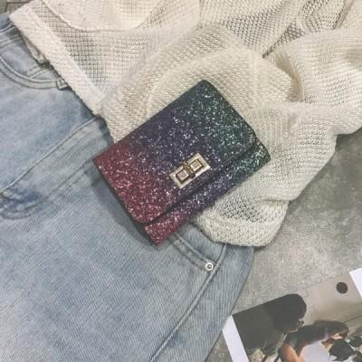 レディース 女性用 財布 短財布 三つ折り財布 プレゼント キラキラ