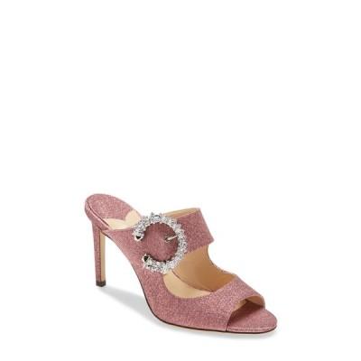 ジミーチュウ サンダル シューズ レディース Crystal Embellished Buckle Sllide Sandal Pink