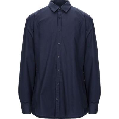 ツインセット MY TWIN TWINSET メンズ シャツ トップス solid color shirt Dark blue