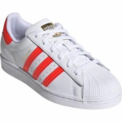 アディダス ADIDAS レディース スニーカー シューズ・靴 Superstar Sneaker White/Solar Red/Scarlet