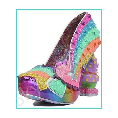 Irregular Choice I Just Gnome It Multi Coloured Heels Size 7.5 Green Gold【並行輸入品】
