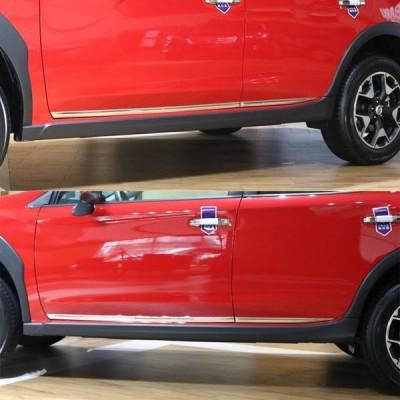 RUIQ スバル Subaru 新型 XV GT3/GT7 GT系 専用 外装 クロームメッキ サイド ドア アンダー モール