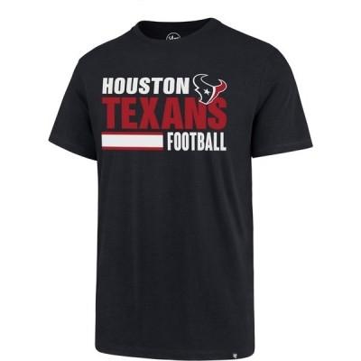 フォーティーセブン Tシャツ トップス メンズ '47 Houston Texans Stacked Stripe Super Rival T-shirt Navy