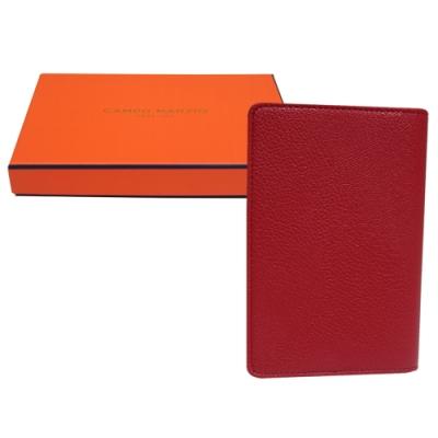 CAMPO MARZIO 掀開式皮革護照夾-鮮紅色(附盒)