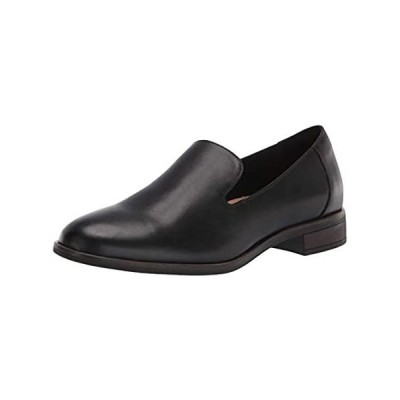 Clarks Women's Trish Driving Style Loafer, Black Leather, 10 Wide