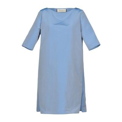 マルニ MARNI ミニワンピース&ドレス スカイブルー 40 42% シルク 41% ポリエステル 17% アクリル ミニワンピース&ドレス