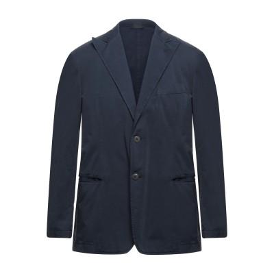 LUBIAM テーラードジャケット ダークブルー 54 コットン 100% テーラードジャケット